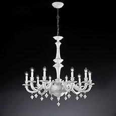 8-10 light ceramic chandelier