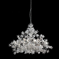 Metal chandelier with ceramic coral-shaped ornaments LF06C