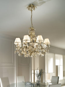 Tiziano LFM/R/06 ivory with lampshades