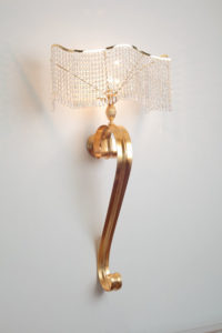 Canova applique with cristal lampshade