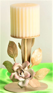 Ivory candle holders