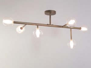 ceiling lamp metal and glass
